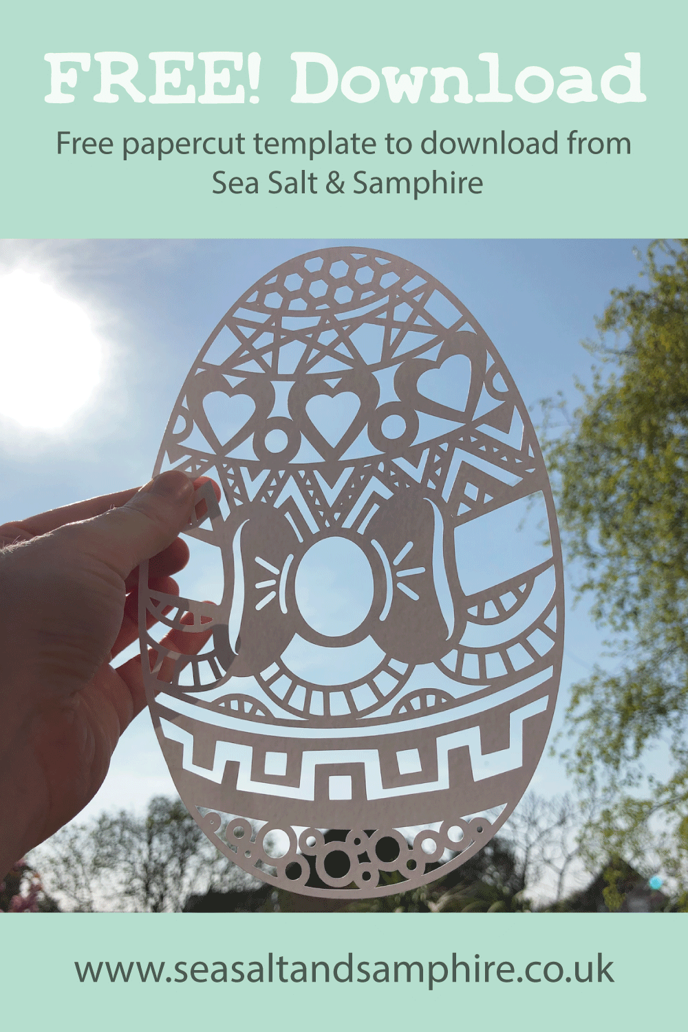 Picture of Easter egg free paper cut template