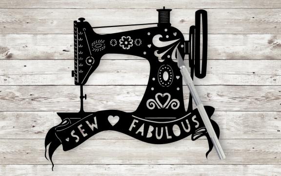 Sewing Machine Paper Cut template