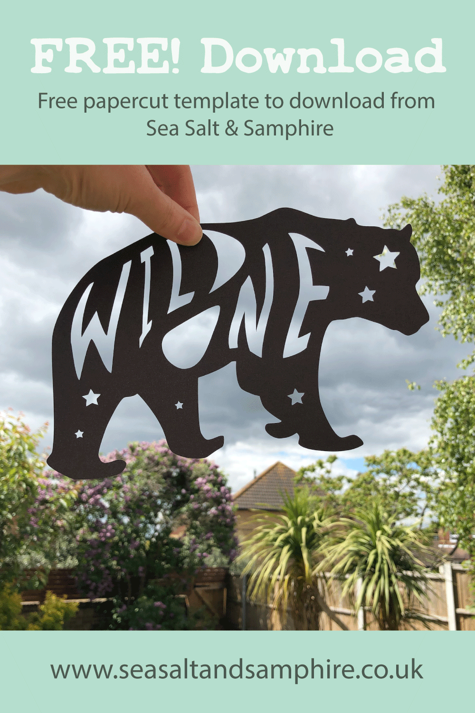 Photo of bear silhouette papercut