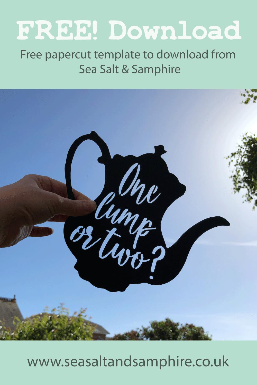 Photo of teapot papercut