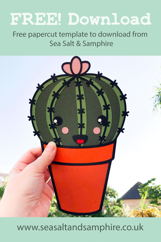 cute cactus papercut