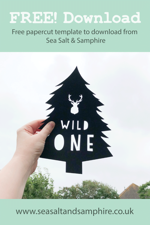 Wild One tree papercut