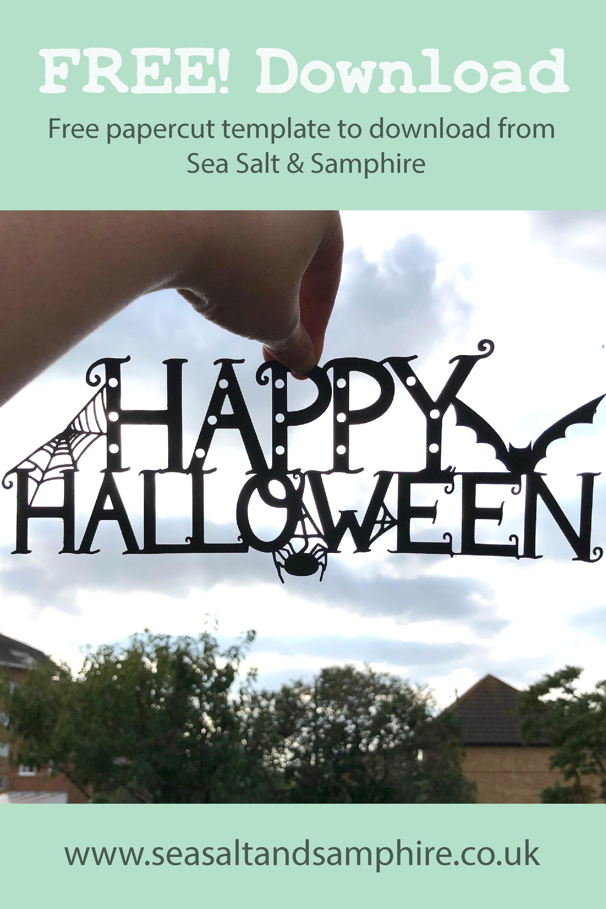 Happy Halloween Papercut