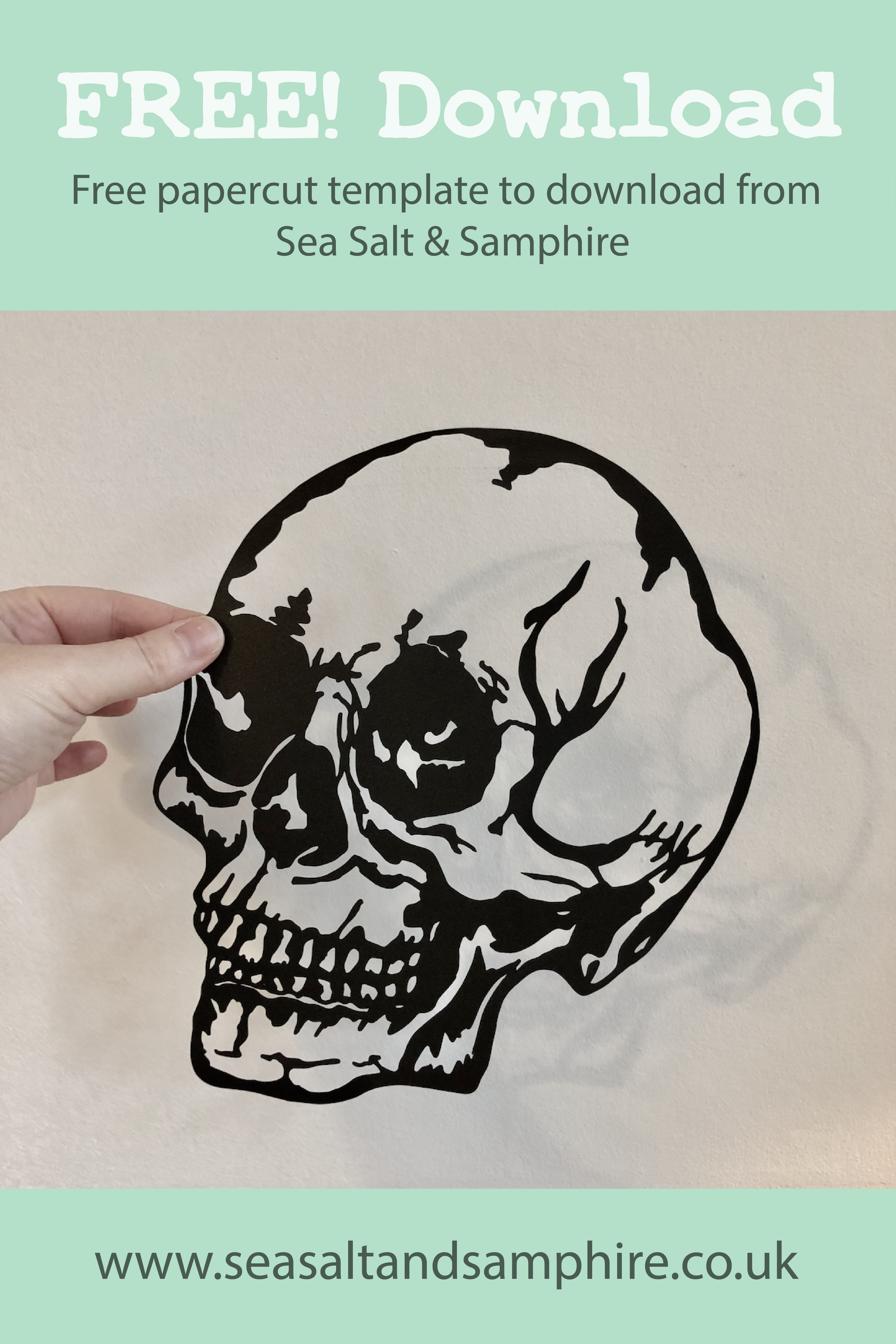 Skull papercut