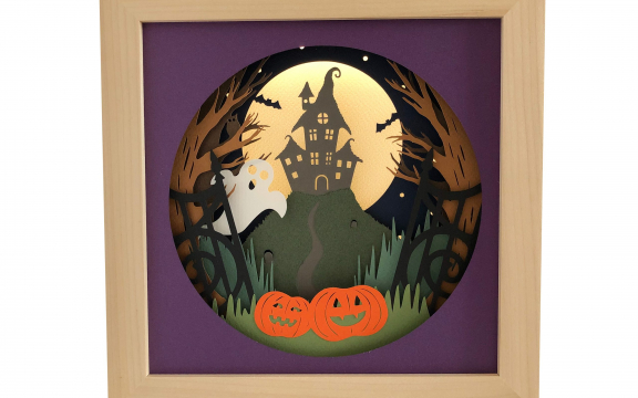Haunted House shadow box template