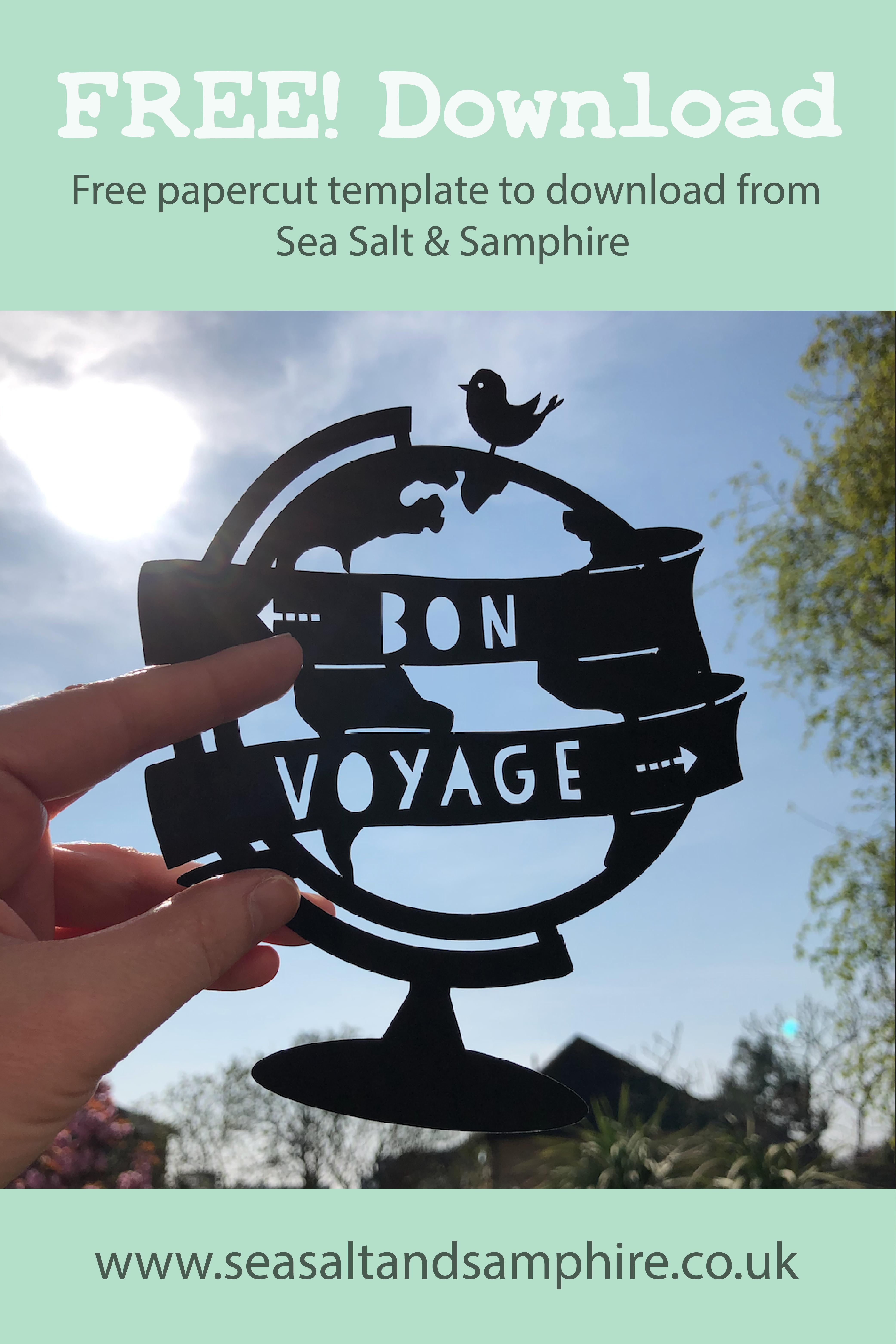 Bon Voyage Globe Papercut