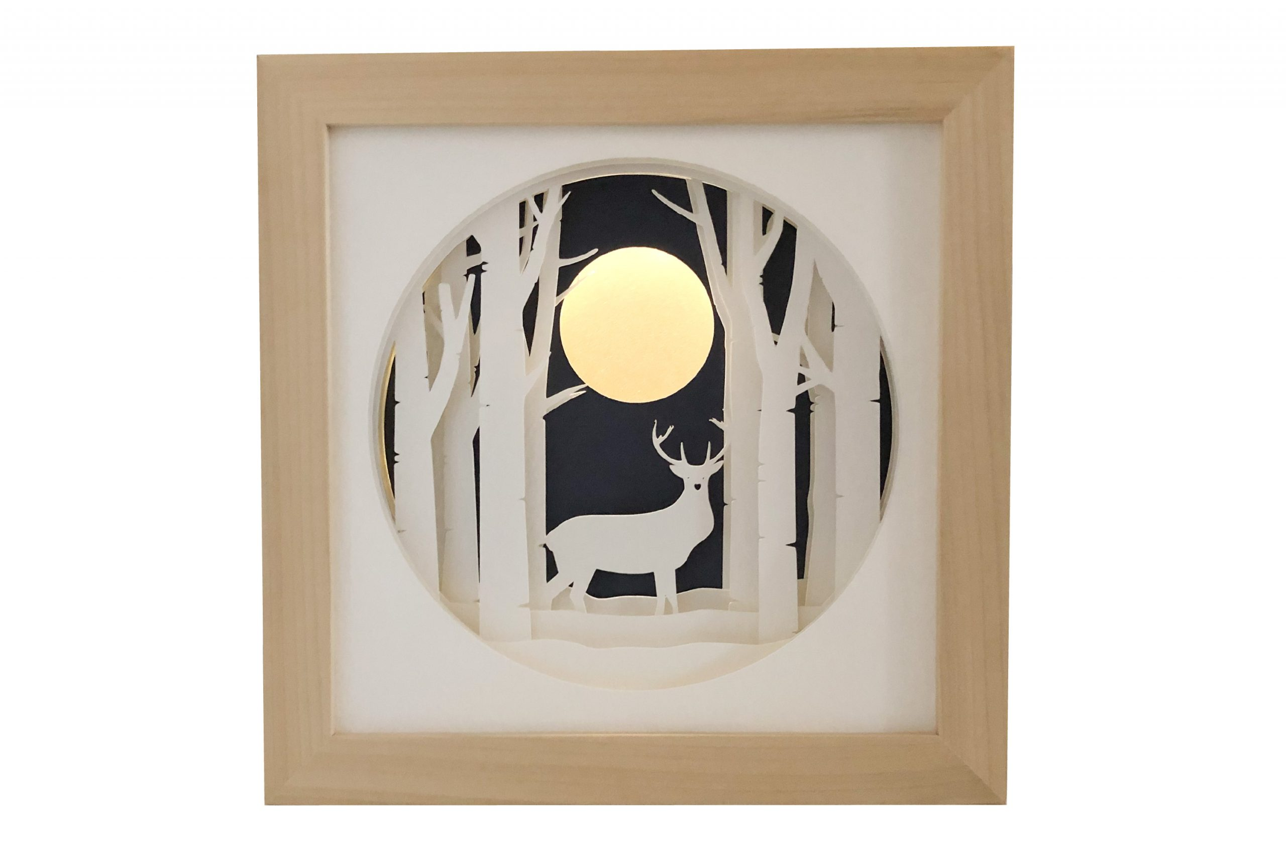 Photo of stag shadow box template