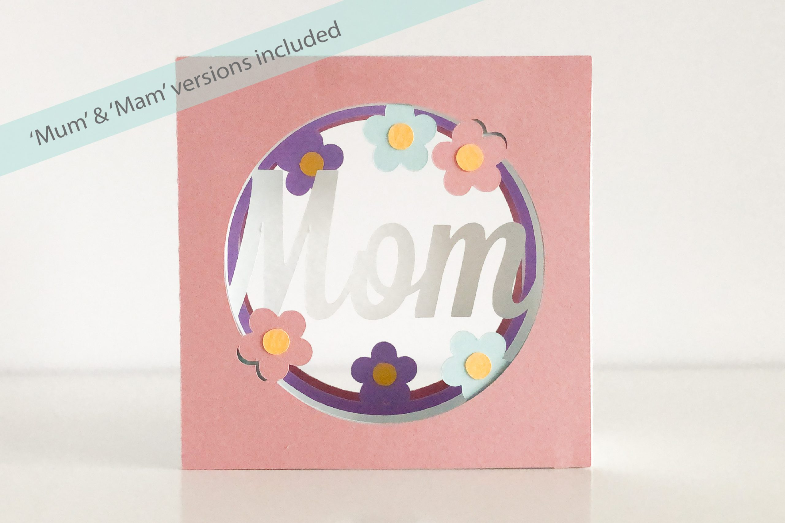 Photo of Mother's Day tunnel card template