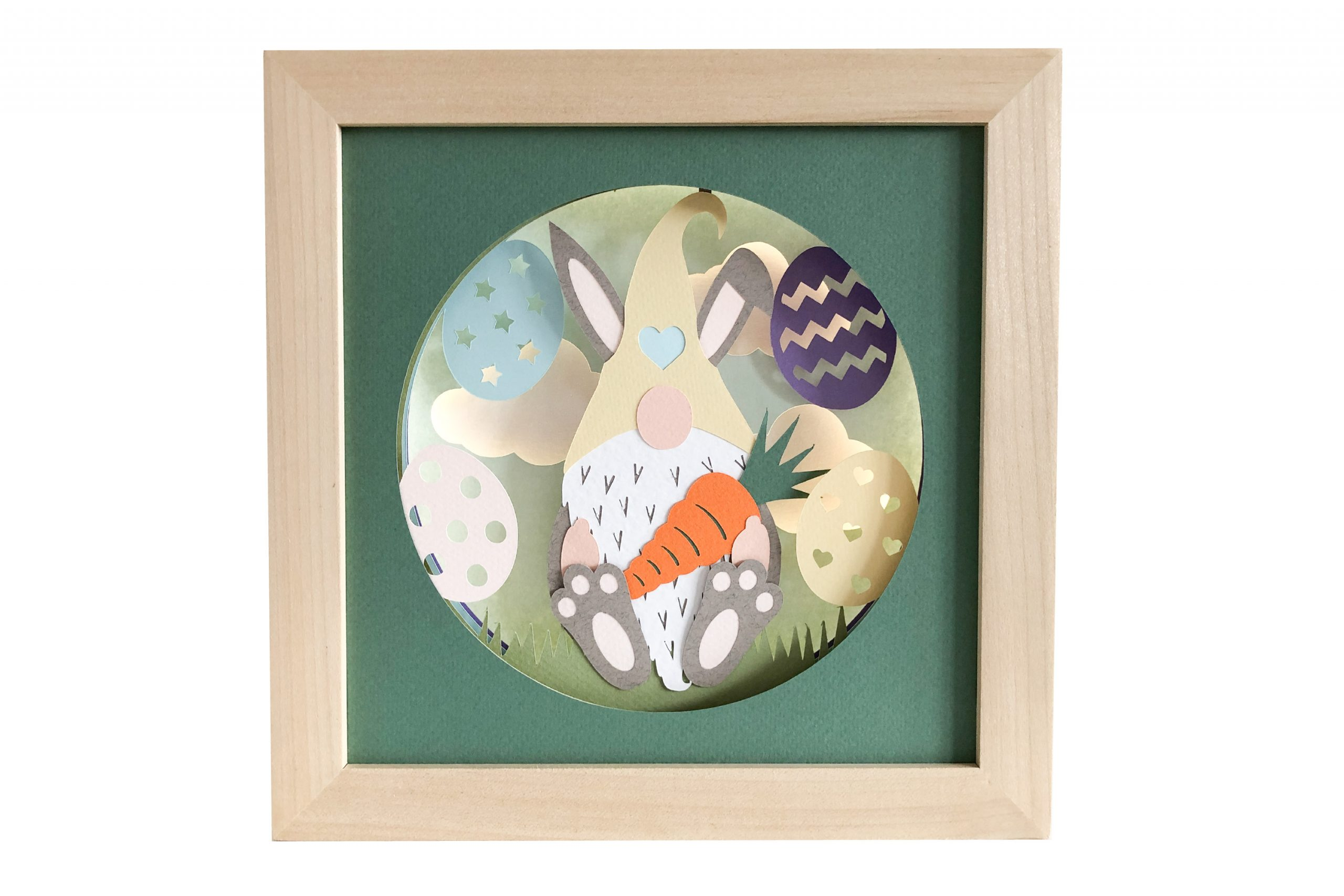 Photo of Easter gnome shadow box template
